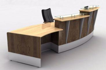 Custom built veneered reception counter