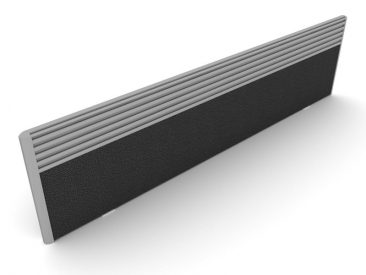 Part toolrail and part fabric screen