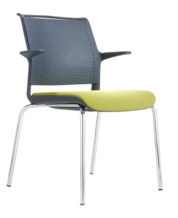 Ad Lib four leg upholstered seat perforated back with arms