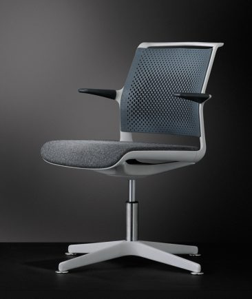 Ad Lib swivel base upholstered seat perforated back and arms