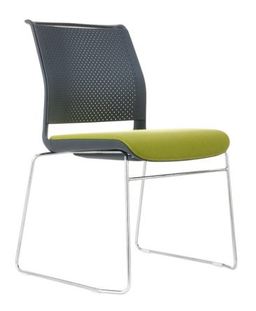 Ad Lib wire frame upholstered seat and perforated back