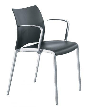 Aura armchair with moulded seat and back