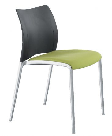 Aura side chair upholstered seat moulded back