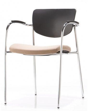 Contour four leg with full arm upholstered seat moulded back