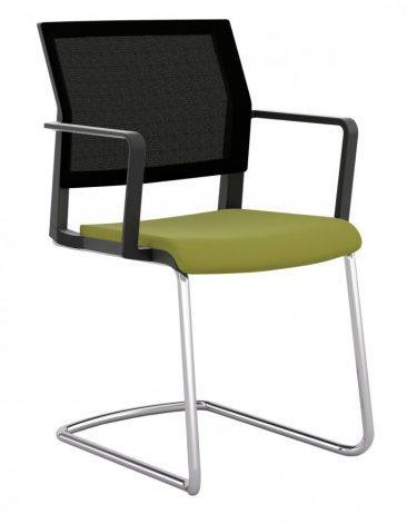 I-Sit cantilever upholstered seat mesh back