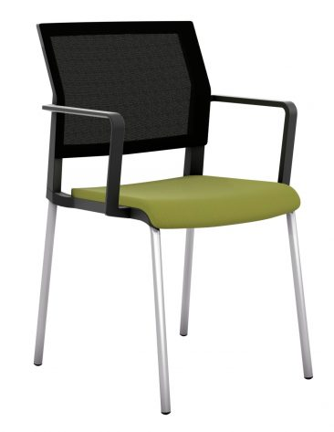 I-Sit four leg upholstered seat mesh back