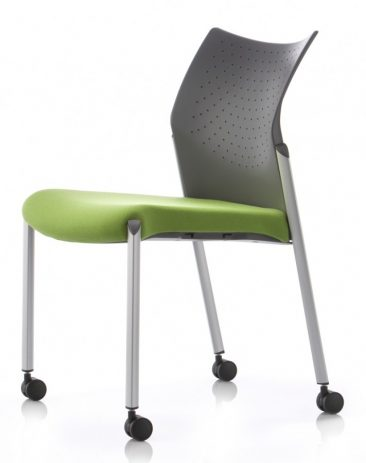 Trillipse Motion side chair upholstered seat perforated back