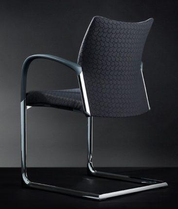 Trillipse canilever armchair fully upholstered chrome frame