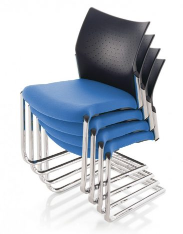 Trillipse cantilever side chairs stacking