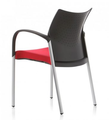 Trillipse four leg armchair upholstered seat perforated back
