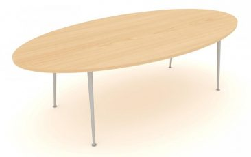 Modular eliptical meeting table