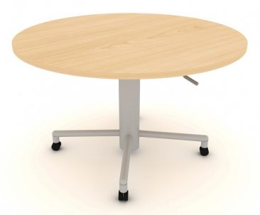 Modular mobile circular sit-stand meeting table