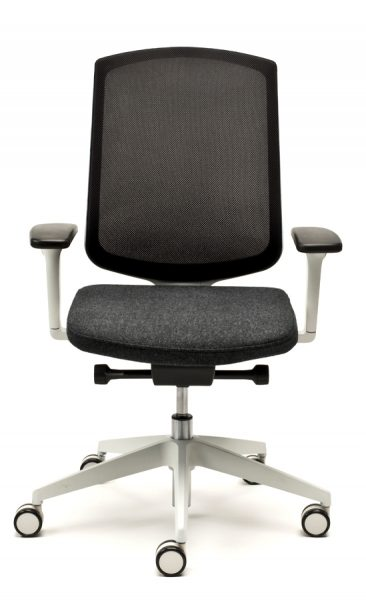 Clipper office chair with light grey components