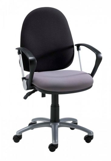 Team office chair with fixed ring arms